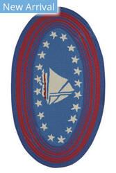 Capel Anthony Baratta Maritime Sailboat 0383 Blue Area Rug