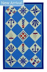 Capel Anthony Baratta Seafaring 2338 Blue Area Rug