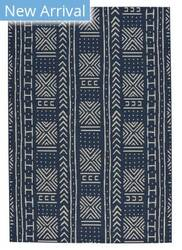 Capel Genevieve Gorder Elsinore Mali Cloth 4722 Midnight Blue Area Rug
