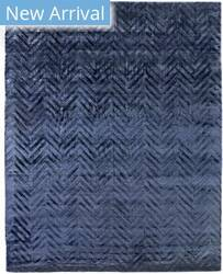 Exquisite Rugs Smooch Carved Hand Woven Blue Area Rug