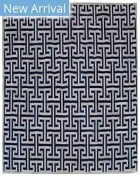 Exquisite Rugs Natural Hair on Hide Ivory - Navy Area Rug