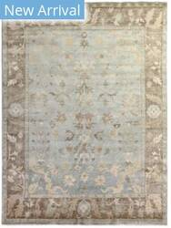 Exquisite Rugs Oushak Hand Knotted Gray - Light Brown Area Rug