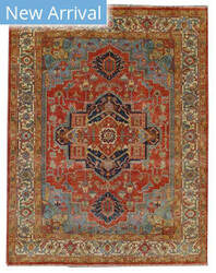 Exquisite Rugs Serapi Hand Knotted Red - Ivory Area Rug