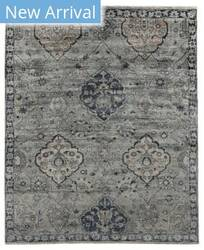 Exquisite Rugs Antique Weave Bamboo Hand Knotted Gray - Denim Area Rug