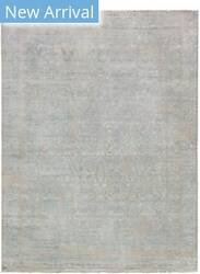 Exquisite Rugs Lexington Hand Knotted Silver - Aqua Area Rug