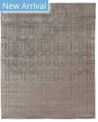 Exquisite Rugs Smooch Carved Hand Woven Silver Area Rug