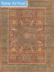 Exquisite Rugs Mamluk Hand Knotted Rust - Green Area Rug