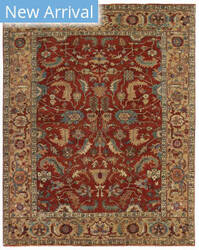 Exquisite Rugs Serapi Hand Knotted Red - Gold Area Rug