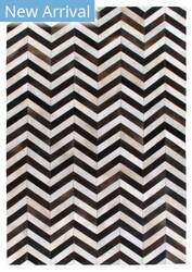Exquisite Rugs Natural Hair on Hide White - Black Area Rug