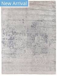 Exquisite Rugs Antique Weave Bamboo Hand Knotted Silver Area Rug