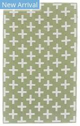 Feizy Aubrey I4801 Green - White Area Rug