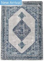 Feizy Bethania 8747f Blue - White Area Rug
