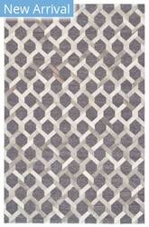 Feizy Fannin 0752f Gray - Asphalt Area Rug