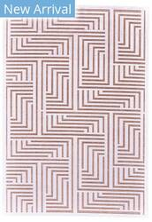 Feizy Soho Lyra I3094 White - Blush Area Rug