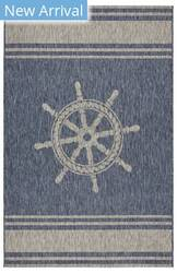 Lr Resources Captiva 81025 Navy - Gray Area Rug