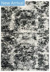 Lr Resources Infinity 81309 White Black Area Rug