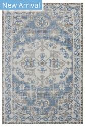Lr Resources Infinity 81317 White - Light Blue Area Rug