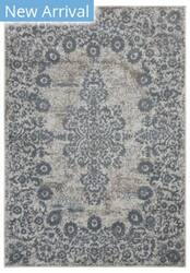 Lr Resources Infinity 81331 Gardenia - Slate Blue Area Rug