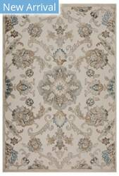 Lr Resources Tranquility 81365 Fungi - Light Blue Area Rug