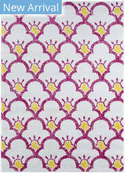 Lr Resources Whimsical 81261 Cream - Pink Area Rug