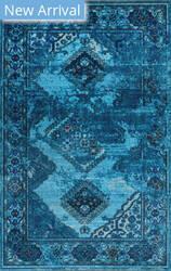 Nuloom Lavonna Distressed Tribal Blue Area Rug
