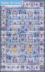 Nuloom Lynette Vintage Light Blue Area Rug
