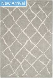 Safavieh Berber Shag Ber162b Light Grey - Cream Area Rug