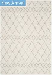 Safavieh Berber Shag Ber165c Cream - Light Grey Area Rug