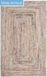 Safavieh Braided Brd210b Ivory - Multi Area Rug