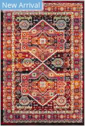 Safavieh Cherokee Chr920z Black - Orange Area Rug