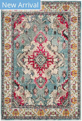Safavieh Monaco Mnc243j Light Blue - Fuchsia Area Rug