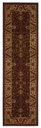 828 Crown Point CP13 Brown with Beige Border Area Rug