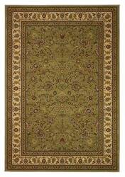 828 Greenville Collection 1-1004-31 Sage with Antique Ivory Border Area Rug