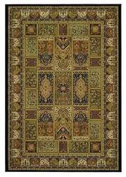 828 Greenville Collection 1-1007-90 Black Panel Area Rug