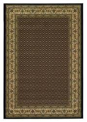 828 Greenville Collection 1-1008-90 Black with Ivory Border Area Rug