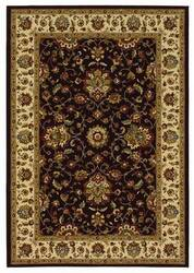 828 Greenville Collection 1-1031-80 Chocolate Brown with Ivory Border Area Rug
