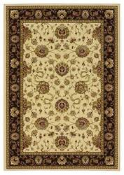 828 Greenville Collection 1-1033-72 Ivory with Brown Border Area Rug