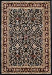 828 Greenville Collection 1-1043-41 Navy with Burgandy Border Area Rug