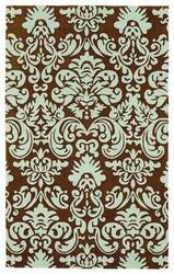 828 Accents CCL107 Chocolate/Mint Area Rug