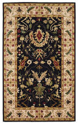 828 Ellington Collection EL04 Black with Ivory Border Area Rug