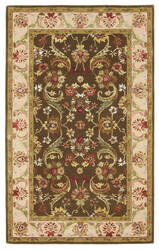828 Ellington Collection EL05 Brown with Ivory Border Area Rug