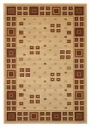 828 Laguna Collection LG03 Ivory/Red Area Rug