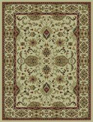 828 Rhine Collection RH01 IV Ivory with Ivory Border Area Rug