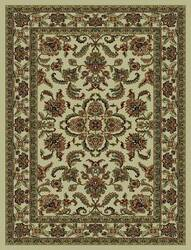 828 Rhine Collection RH02 IV Ivory with Ivory Border Area Rug
