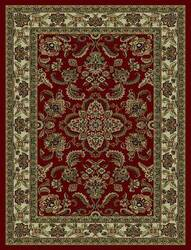 828 Rhine Collection RH02 RD Red with Ivory Border Area Rug