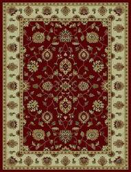 828 Rhine Collection RH03 RD Red with Ivory Border Area Rug