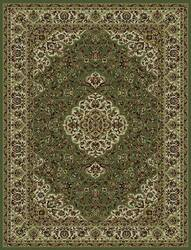 828 Rhine Collection RH06 GR Green with Ivory Border Area Rug