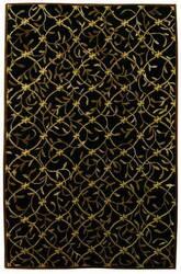 828 Tibetan Collection TIB72 Black/Gold Area Rug