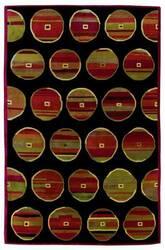 828 Tibetan Collection TIB73 Black/Red Area Rug