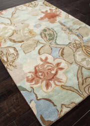 Addison And Banks Hand Tufted Abr0092 Aqua Foam Area Rug